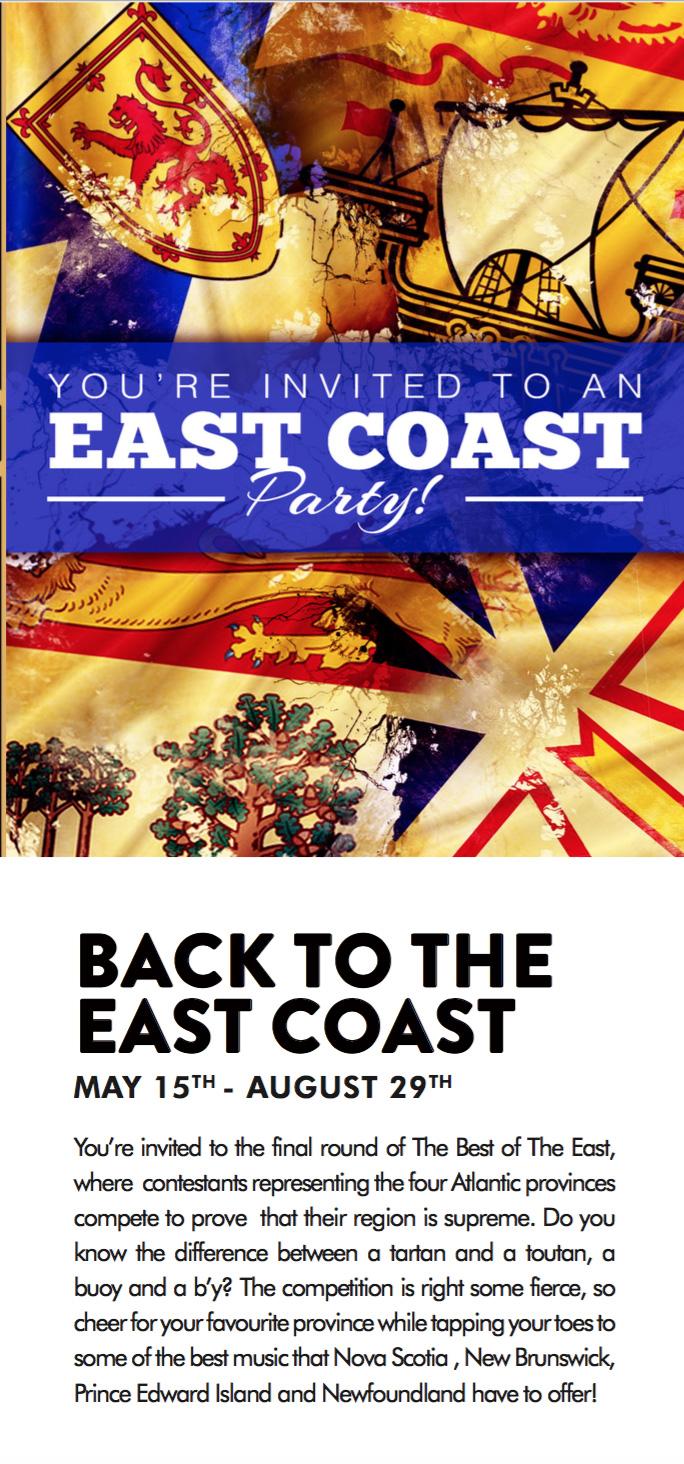 BACK TO THE EAST COAST